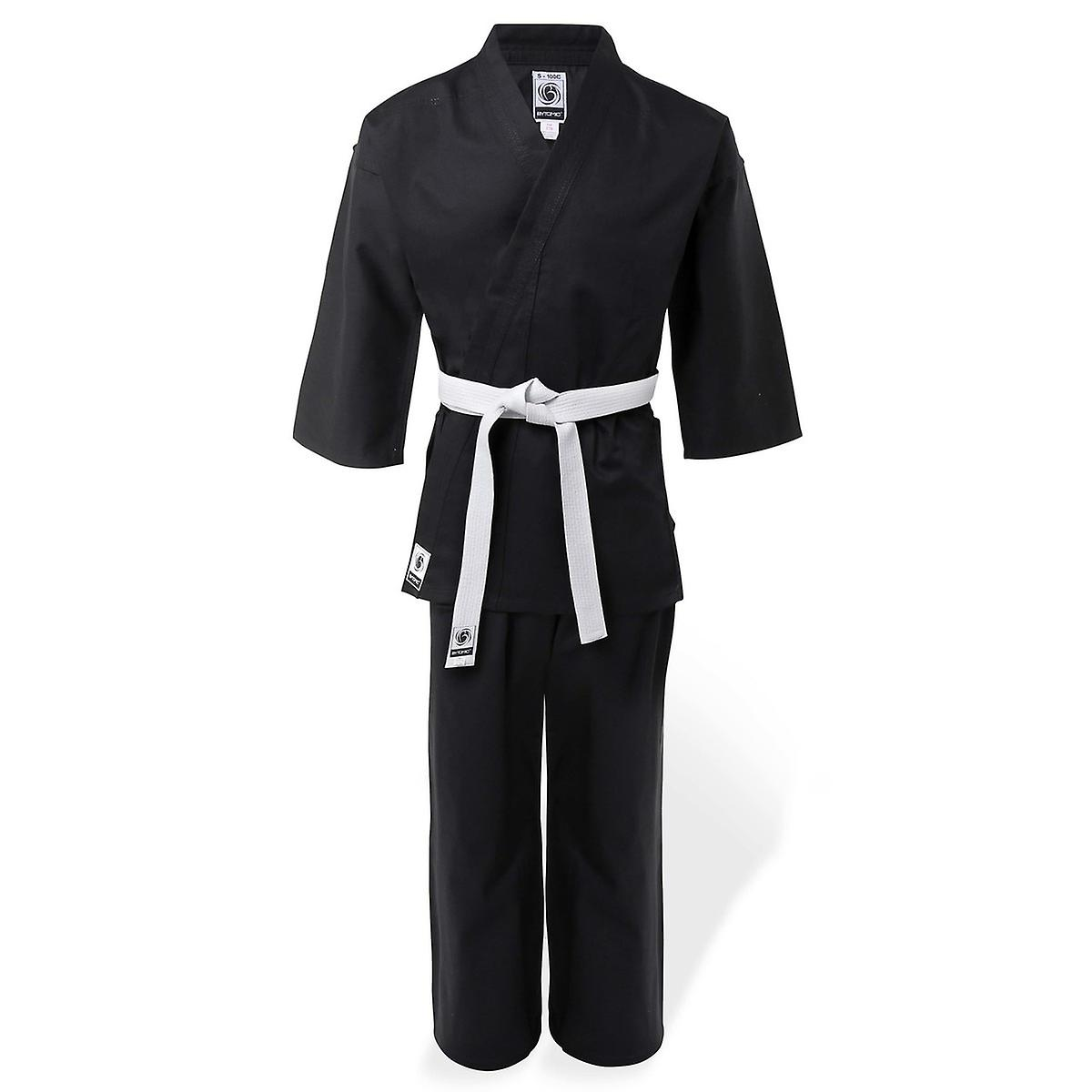 Bytomic Adult 100% Cotton Student Black Karate Uniform