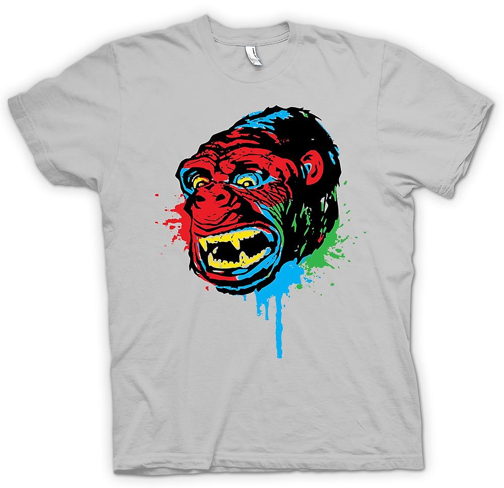 Herr T-shirt-Pop Art - Ape Gorilla - Cool Design