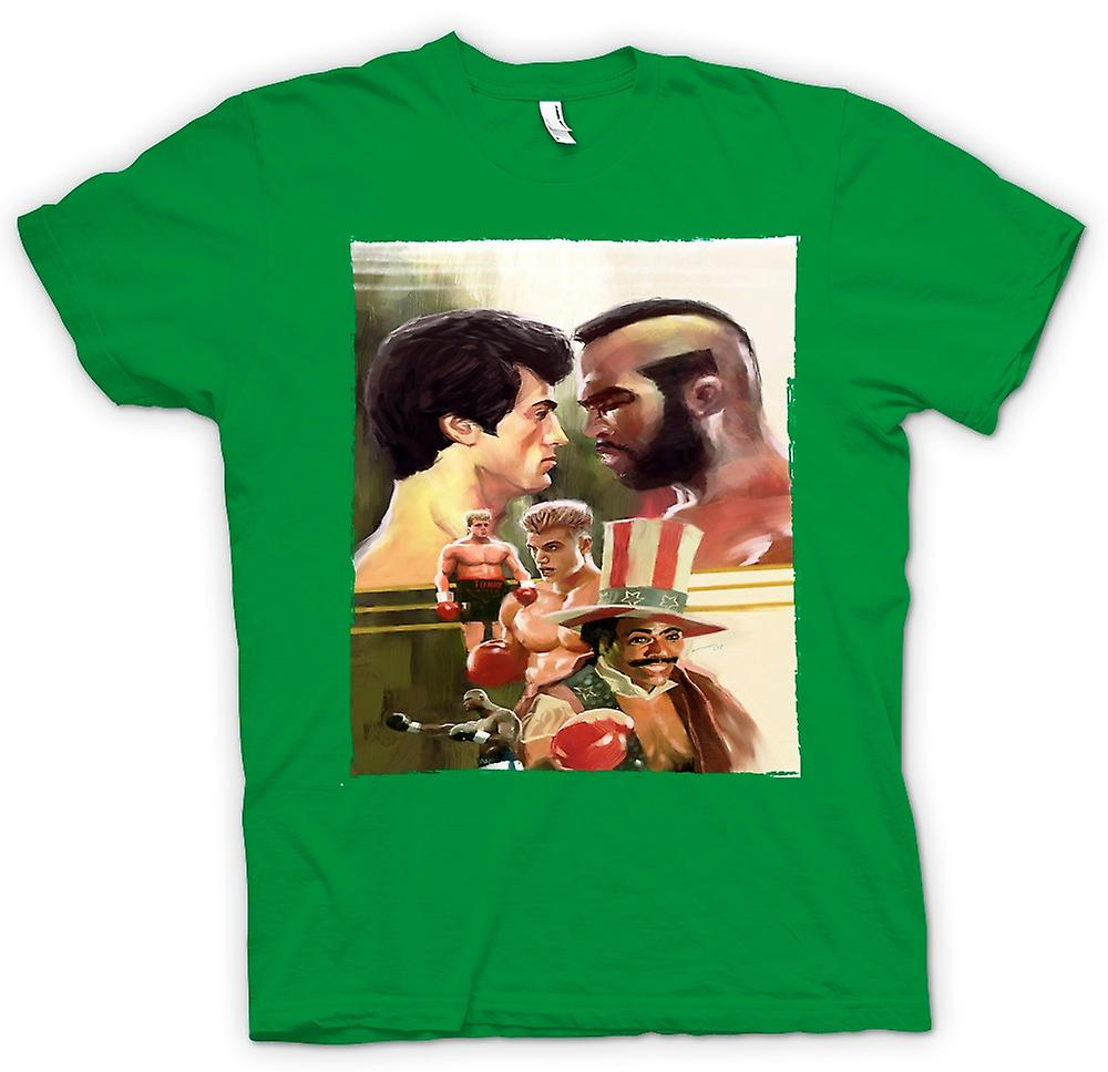 Heren T-shirt - Rocky - boksen Movie - Collage