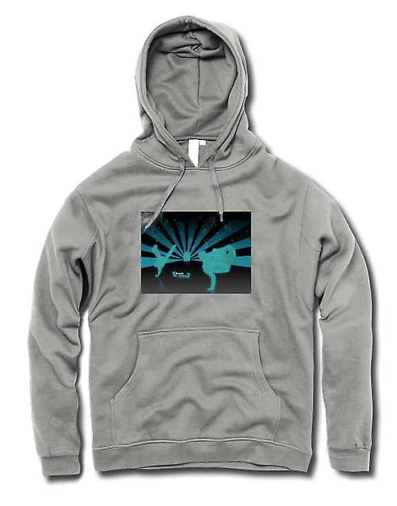 Heren Hoodie - Break Dance Straat Blue - Design