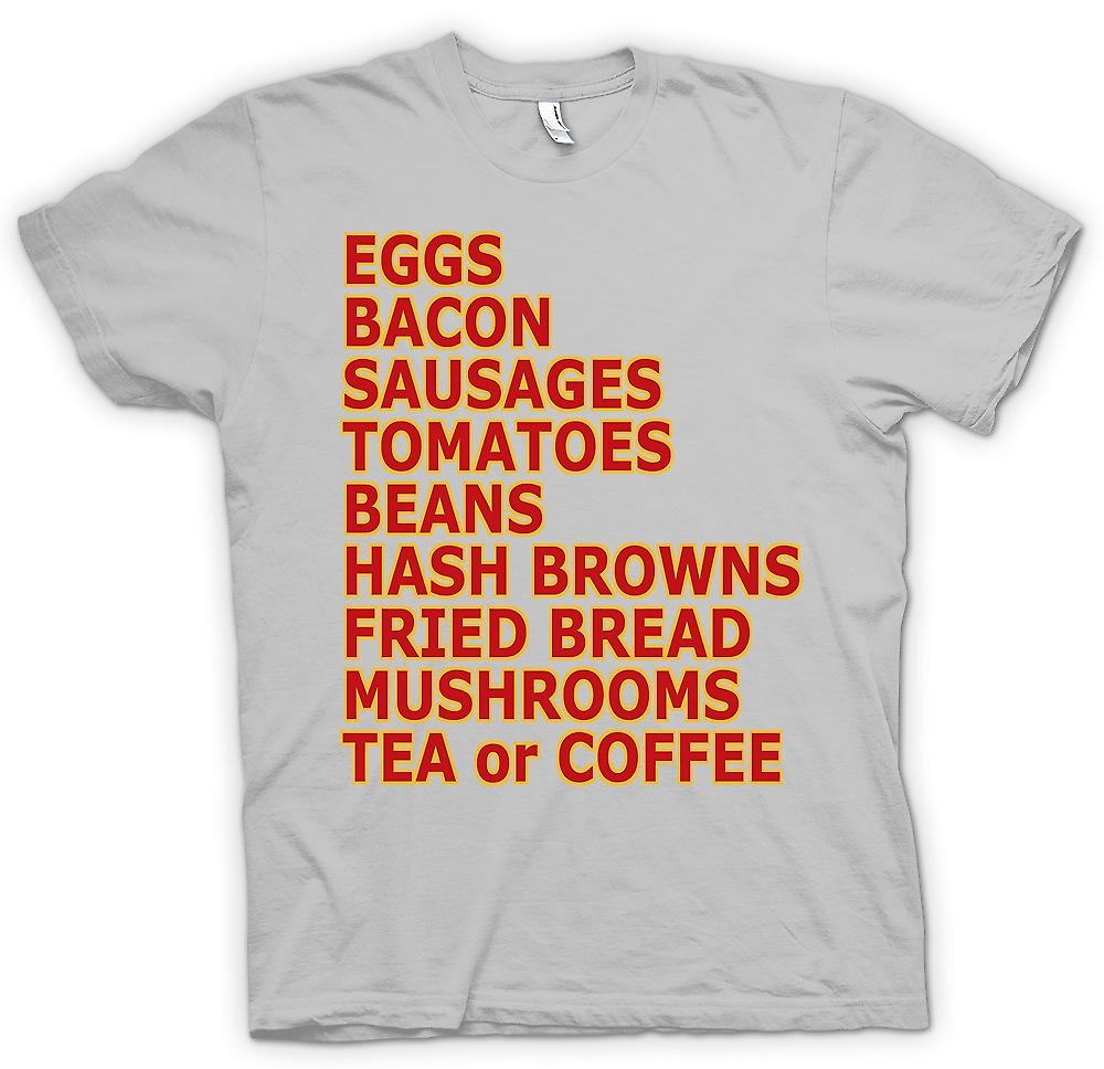 Mens T-shirt - Fry Up - oeufs, Bacon, saucisses ¢ - Funny