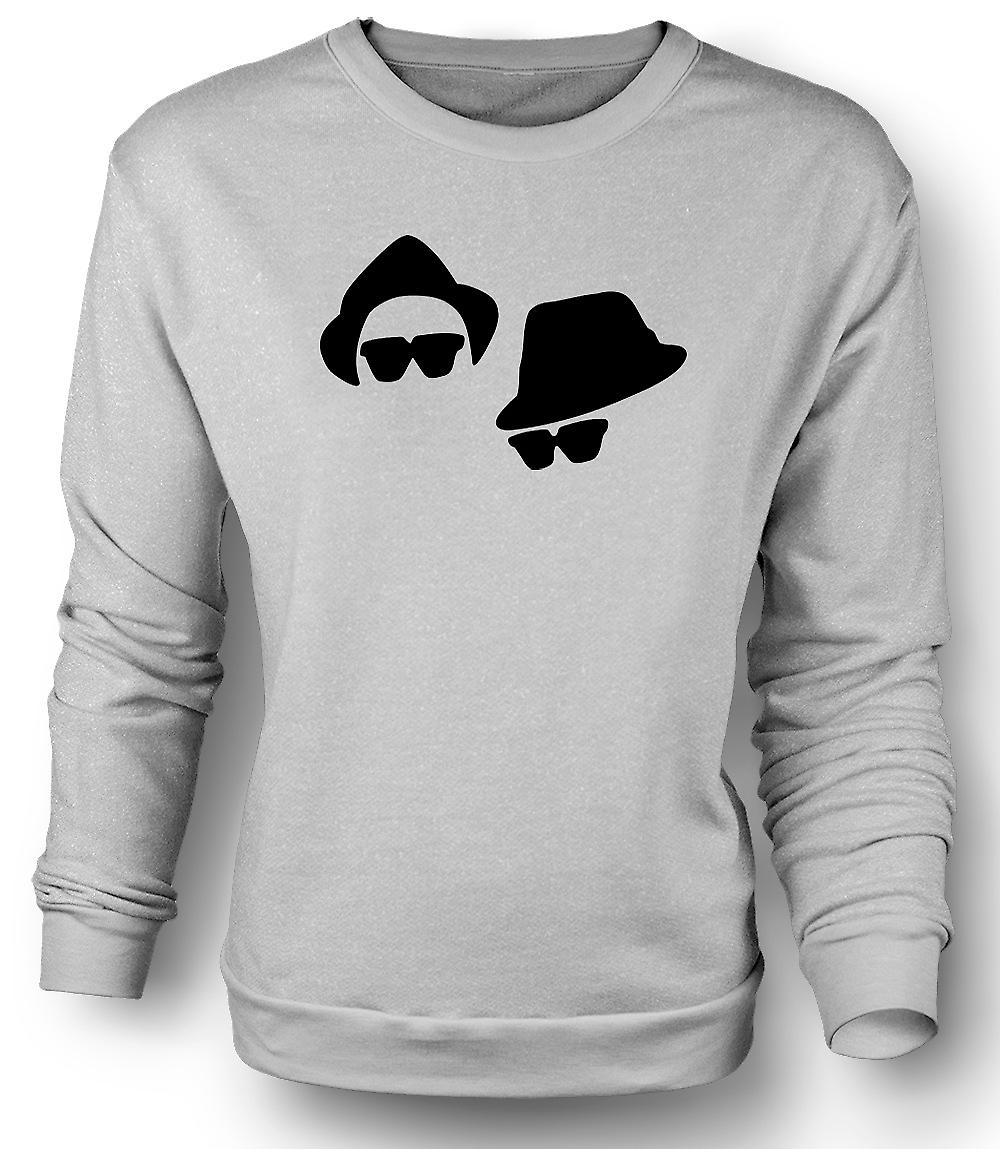 Mens Sweatshirt Blues Brothers Gesichter