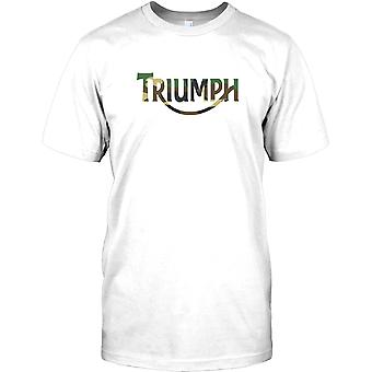 Triumph camouflage Logo - Cool Biker Kids T Shirt