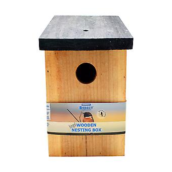 Simply Direct Pressure Treated Wooden Wild Bird House Wood Nesting Box BF017