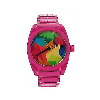 Firetrap Ladies Multi Colour Dial Pink Stainless Steel Strap Watch FT1028KMP
