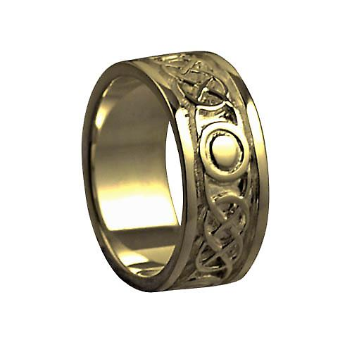 9ct Gold 8mm Celtic Wedding Ring Size O