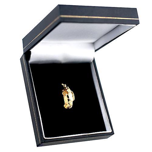9ct gult guld 20x8mm inspirerats av den klassiska 2CV Charm eller hänge