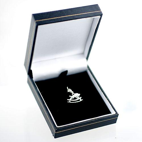 Silver 22x17mm Rocking Horse Charm on a lobster trigger