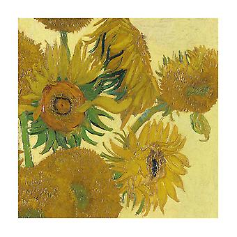 Ambiente 3 Ply Paper Lunch Napkins, Van Gogh Sunflower