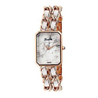 Bertha Eleanor Ladies Swiss armband klocka - Rose guld/vit