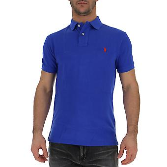 Ralph Lauren Blue Cotton Polo Shirt