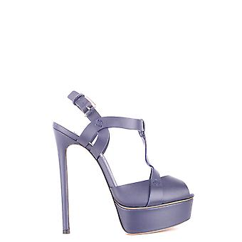 Casadei Blue Leather Sandals