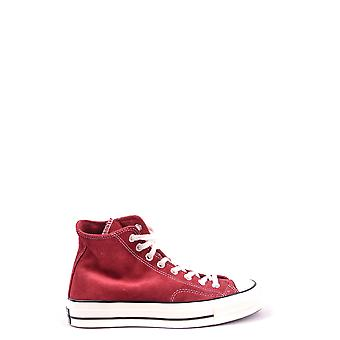 Converse Burgundy Fabric Hi Top Sneakers