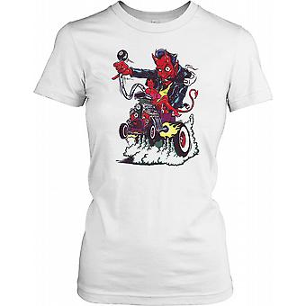 Devil Driving a Car - Horror Ladies T Shirt