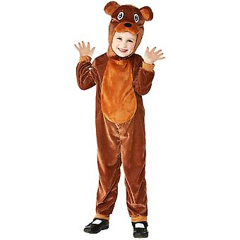 Toddlers Cute Brown Bear Fancy Dress Costume