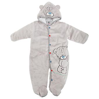 Baby gutter/jenter Furry blå nese Teddy hette vinter Body/Romper