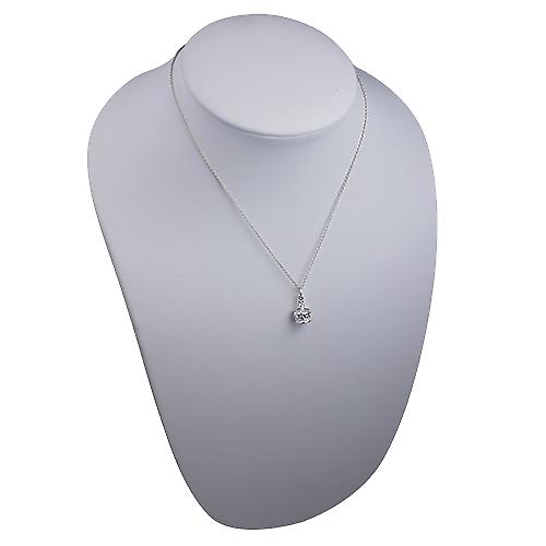 Silver 12x10mm Royal Crown Pendant with a rolo Chain 16 inches Only Suitable for Children