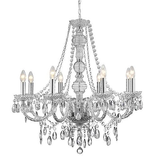 Searchlight 8888-8CL Marie Therese 8 Light Traditional Style Chandelier In Clear Acrylic