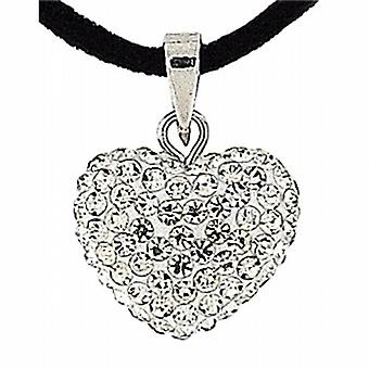 Olivia Collection Crystal Heart Pendant On 18