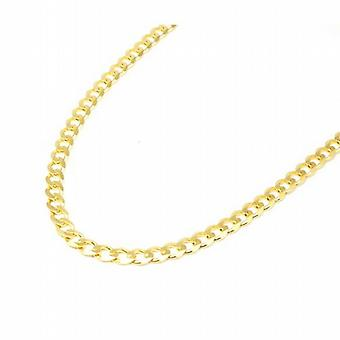 Toc 18 Inch Gold Plate on Sterling Silver 14.7 Gram Curb Necklace
