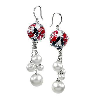 Belle Etoile Botanique Pearl Red Earrings 3030910904