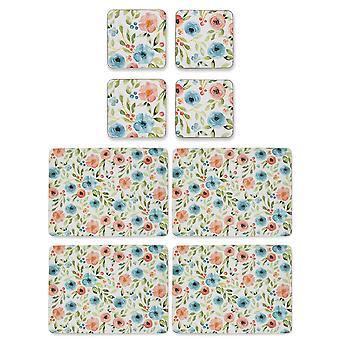 Cooksmart Country Floral Placemats and Coasters