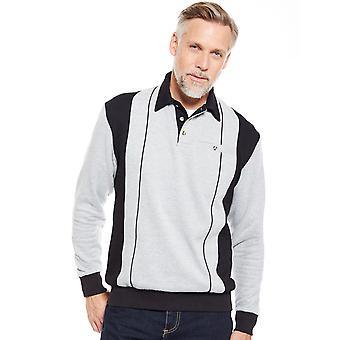Mens Polo Collar Sweatshirt