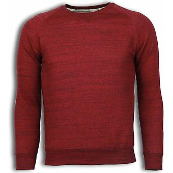 Basic Fit Crewneck-Sweatshirt-Bordeaux