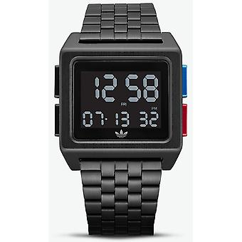 Adidas archive_m1 Quartz Digital Man Watch with Stainless Steel Bracelet Z013042-00