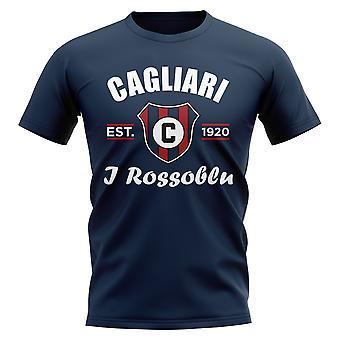 Cagliari Established Football T-Shirt (Navy)