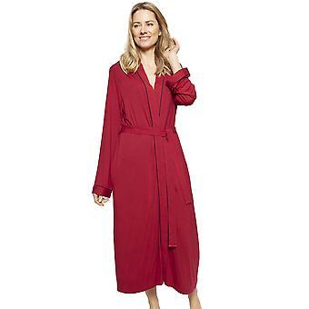 Cyberjammies 1339 Women's Nora Rose Violet Burgundy Red Modal Long Robe