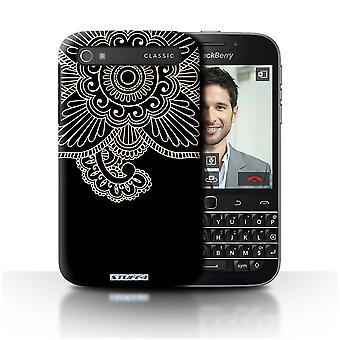 STUFF4 Custodia/Cover per Blackberry Classic/Q20/fiore/Henna Tattoo