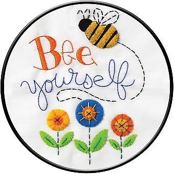 Bee Yourself Stamped Cross Stitch Kit-8
