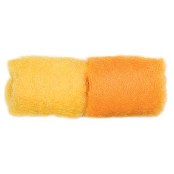 Feltworks Roving .25 Ounces Butter Cheddar R732 84