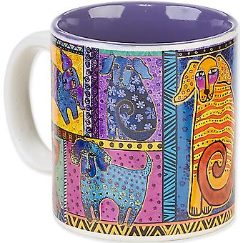 Laurel Burch Artistic Mug Collection Dog Tails Patchwork Lbm 314