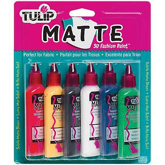 Tulip 3D Fashion Paint 1 1 4 Ounces 6 Pkg Matte Sk 76R