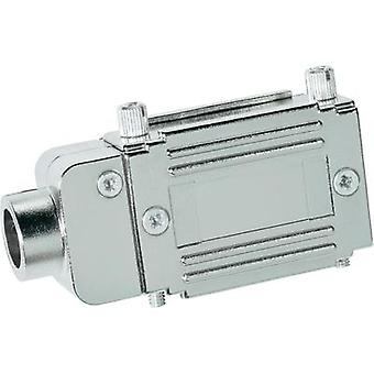 D-SUB adapter housing Number of pins: 25 Plastic, metallised 90 ° Silver Provertha 77252M 1 pc(s)