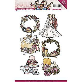 Find It Trading Yvonne Creations Clear Stamp-Celebrations YCS10008