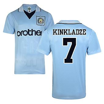 Score Draw Man City 1996 Home Shirt (Kinkladze 7)