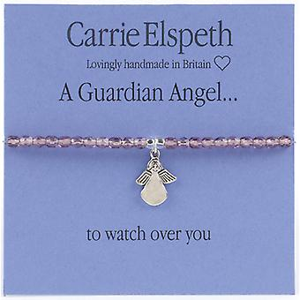 Carrie Elspeth Guardian Angel Sentiment Stretch Bracelet