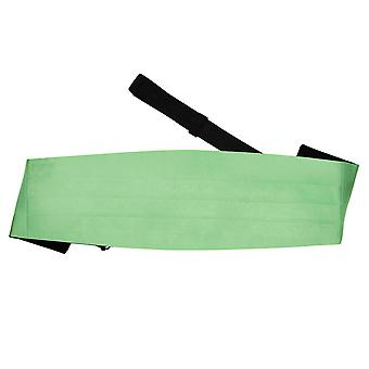 Lime Green Plain Satin Kummerbund