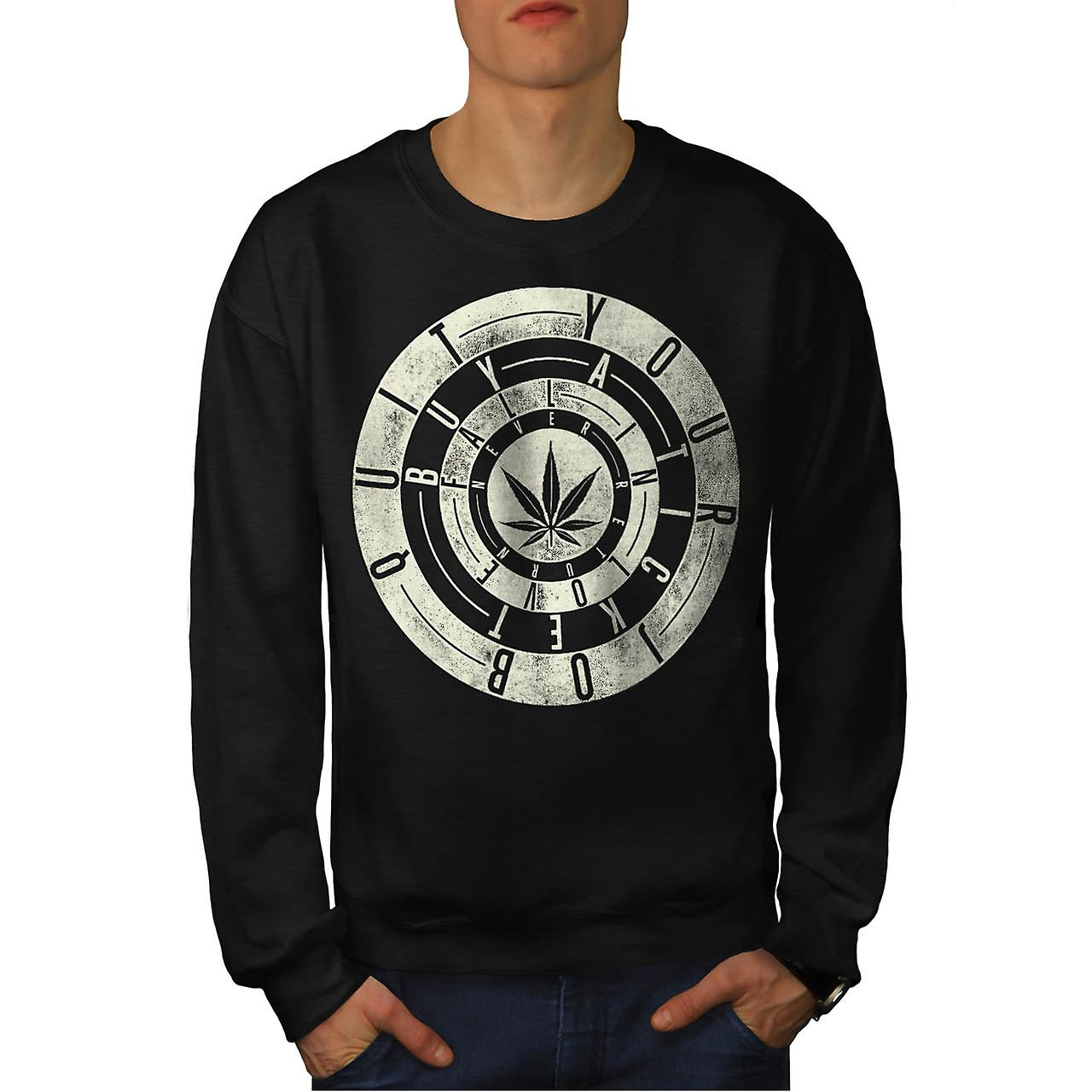 Dope Quit Job Ticket Fall Love Men Black Sweatshirt | Wellcoda