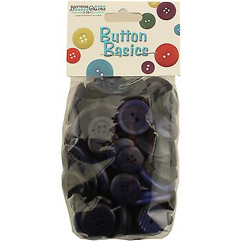 Button Basics Assorted Buttons 5.5oz-Navy Blue BCB-115