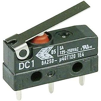 Microswitch 250 Vac 6 A 1 x On/(On) Cherry Switches DC1C-H1LB IP67 momentary 1 pc(s)