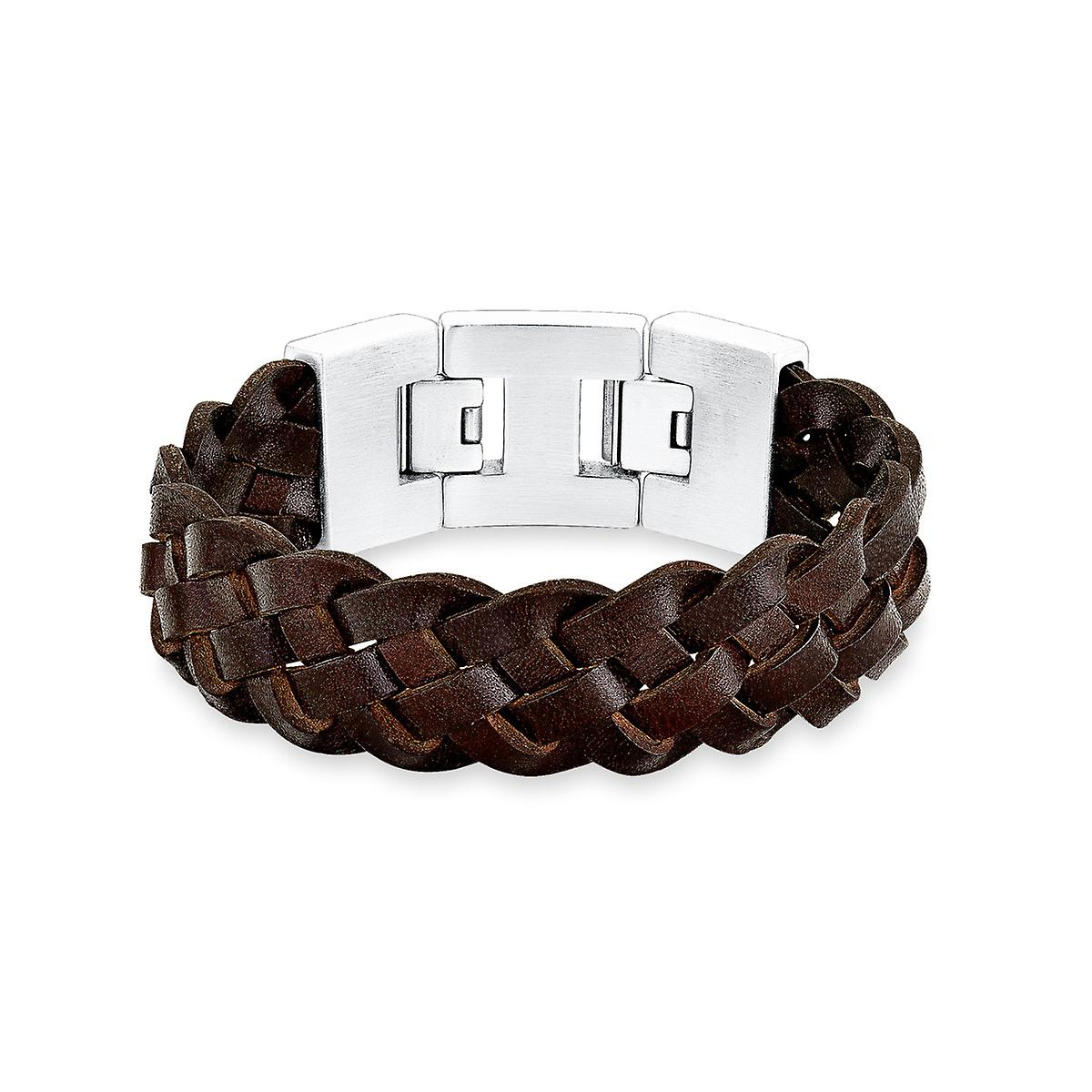 s.Oliver jewel mens leather bracelet stainless steel SO1289/1 - 9067145