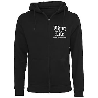 Thug Life Zip Hoody - CHEST logo black