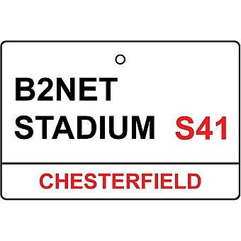 Chesterfield / B2Net estadio calle firmar ambientador de aire