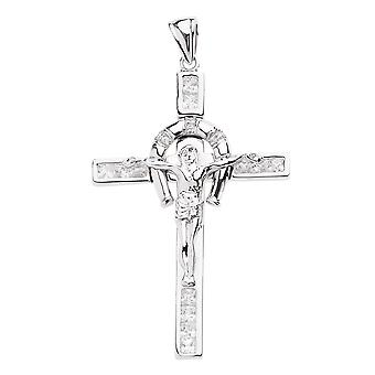 925 iced out sterling silver cross - FELICITY