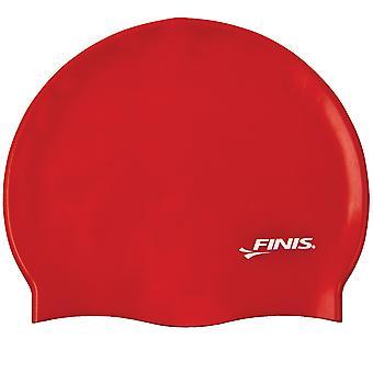 FINIS siliconen zwemmen Cap - rood