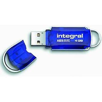 Integral 4Gb Courier Total Lock Flash Drive